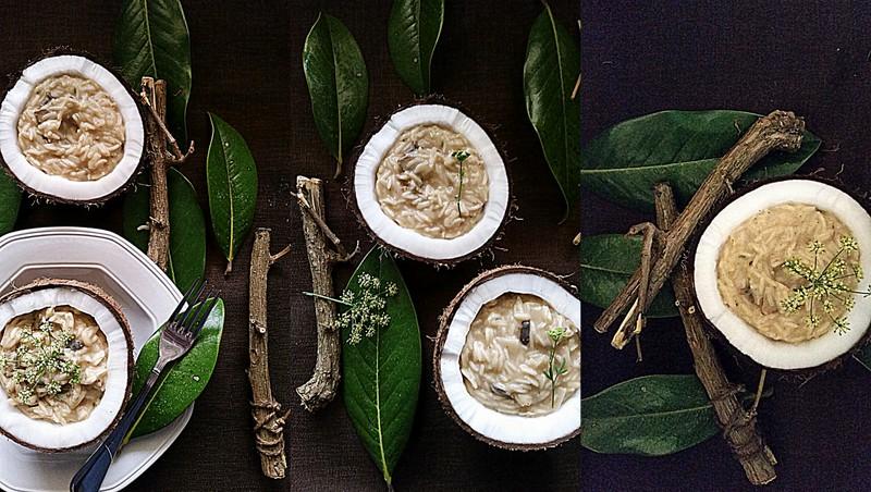 Creamy mushroom risotto (2/2)